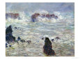 Cliffs at Belle-Ile (Monet) Posters