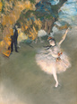 The Star, or Dancer on the Stage, circa 1876-77 Giclée-tryk af Edgar Degas