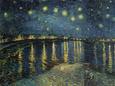 Hvězdná noc nad Rhônou (van Gogh) Posters