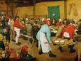 Peasant Wedding (Bauernhochzeit), 1568 Digitálně vytištěná reprodukce od Pieter Bruegel the Elder