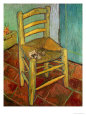 Vincent's Chair with Pipe (van Gogh) Posters
