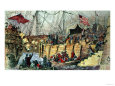 The Boston Tea Party reproduction procédé giclée