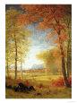 Autumn in America, Oneida County, New York Digitálně vytištěná reprodukce od Albert Bierstadt