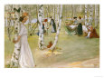 Breakfast in the Open (Frukost I Det Grona), 1910 Gicleetryck av Carl Larsson