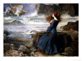 Miranda, the Tempest, 1916 Giclée-tryk af John William Waterhouse