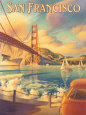 San Francisco Reproduction d'art par Kerne Erickson