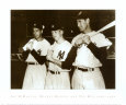 Joe DiMaggio, Mickey Mantle and Ted Williams, 1951 Art Print
