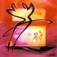 Rhumba in Red II Kunsttryk af Alfred Gockel