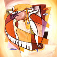 Wailing on the Sax Art Print by Alfred Gockel