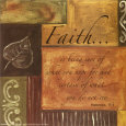 Words to Live By: Faith Art Print by Debbie DeWitt