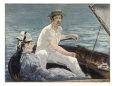 Boating Giclée-tryk af Édouard Manet
