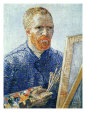 Self-Portrait in front of the Easel, c.1888 Giclée-tryk af Vincent van Gogh