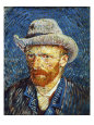Self Portrait with Grey Felt Hat, c.1887 Giclée-tryk af Vincent van Gogh