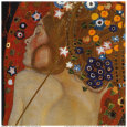 Waterslangen II, ca. 1907 (detail) Kunstdruk van Gustav Klimt