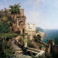 In the Garden, Amalfi Coast Art Print by Franz Richard Unterberger