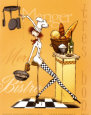 Sassy Chef III Art Print by Mara Kinsley