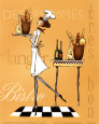 Sassy Chef IV Art Print by Mara Kinsley