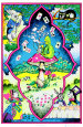 Wonderland Blacklight Poster