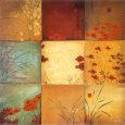 Poppy Nine Patch Kunsttryk af Don Li-Leger