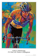 Lance Armstrong, Seven Times Tour de France Champion Impresso artstica por Malcolm Farley