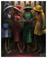 Sunday Conversation Art Print by Lonnie Ollivierre