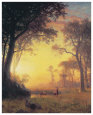 The Light in the forest Reproduction d'art par Albert Bierstadt