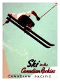 Canadian Pacific Snow Ski Rockies Lmina gicle