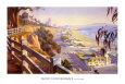Pacific Coast Highway II Reproduction d'art par John Comer