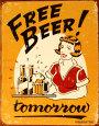 Free Beer Blikskilt