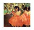 Danserinder i rødt Kunsttryk af Edgar Degas
