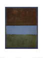 No. 61 (Brown, Blue, Brown on Blue), c.1953 Lmina por Mark Rothko
