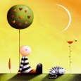 Dreaming Art Print by Jo Parry