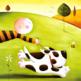 Walkies Art Print by Jo Parry