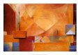 Orange Abstract (Decorative Art) Posters