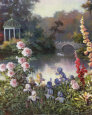 Summer Garden Kunsttryk af T. C. Chiu