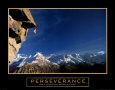 Vytrvalost, Perseverance, lezec na útesu (citát vangličtině) Umělecká reprodukce