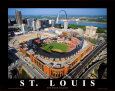 Busch Stadium Art Print by Mike Smith