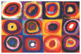 Frgstudie av kvadrater|Color Study of Squares (Kandinsky) Posters