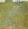 Meadow with Poppies Art Print by Gustav Klimt