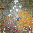 Farm Garden Art Print by Gustav Klimt