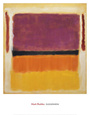 Ohne Titel (Violett, Schwarz, Orange, Gelb auf Wei und Rot), 1949 Kunstdruck von Mark Rothko