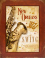 New Orleans Jazz II Kunsttryk af Pela Design