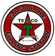 Texaco Filling Station Placa de lata