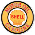 Gasolina y aceites Shell Cartel de chapa