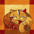 La Sieste du Chat II Art Print by Michle Neuhard