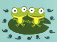 Frogs (Decorative Art) Posters