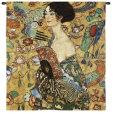 Mujer con abanico Tapiz por Gustav Klimt
