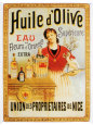 Huile d'Olive Tin Sign
