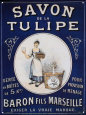 Savon De La Tulipe Tin Sign