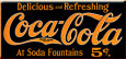 Coca Cola 5 cents Plaque en métal